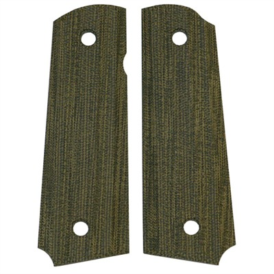 "1911 Auto ""gator-back"" Grips Green Canvas Micarta 1911 Grips, Std. : Handgun Parts by Vz Grips for Gun & Rifle"