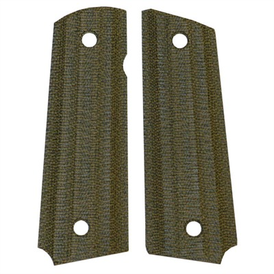 "1911 Auto ""gator-back"" Grips Green Canvas Micarta 1911 Grip, Slim : Handgun Parts by Vz Grips for Gun & Rifle"