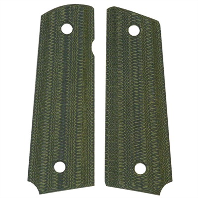 "1911 Auto ""gator-back"" Grips Grn / blk Linen Micarta 1911 Grips, Slim : Handgun Parts by Vz Grips for Gun & Rifle"