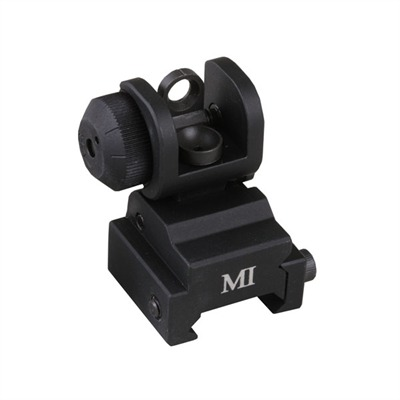 Ar 15/M16/Ar Style 308 Flip Up Rear Sight Mctar Ers Emergency Rear Sight Black U.S.A. & Canada