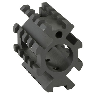 Ar-15 Gas Block Picatinny - Ar-15 Gas Block 4-Rail Picatinny .750 Steel Black