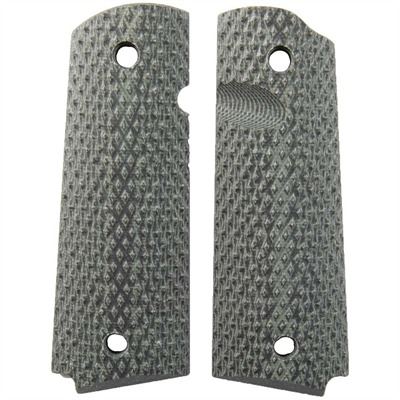 1911 Tactical Grips - Gb G10 Grips, Black/Gray