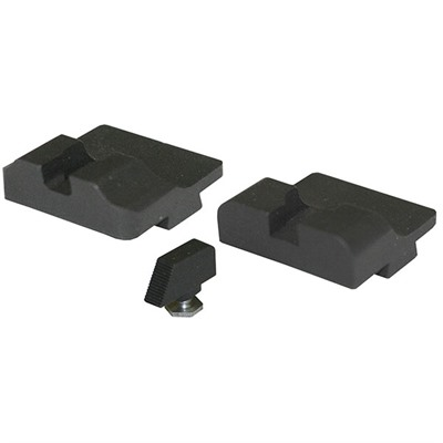 Warren Tactical Series Tactical Series Sight Set For Glock - Tactical Rear, Black Serrated Front
