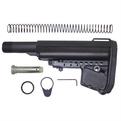 Ar-15 Emod Stock Assy Collapsible Mil-Spec - Ar-15 Emod Stock Assy Collapsible Mil-Spec Blk