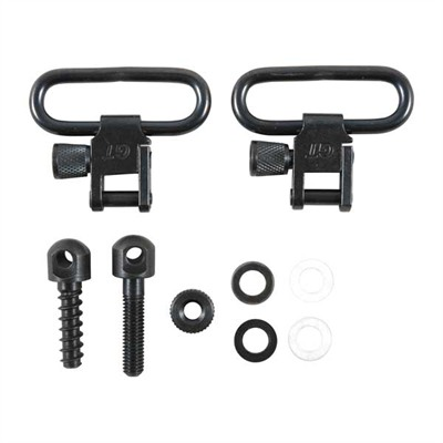 "Rifle Sling Swivel Sets - 1-1/4"" Kit Inc Swivels W/Mach Screw Frt Stud,Wd Scrw Rr Stud"