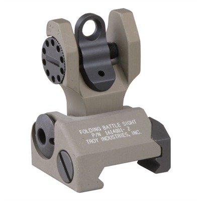 Troy Industries Ar-15  Rear Sight - Ar-15  Flip-Up Adjustable Rear Sight Dark Earth