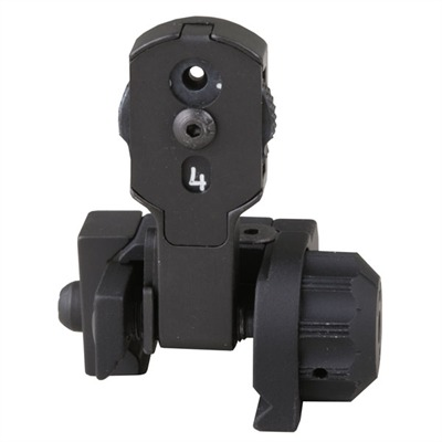 Gg&G Ar-15  Multiple Aperture Mad Rear Sight - Ar-15  Flip-Up  Multiple Aperture Mad Rear Sight Black