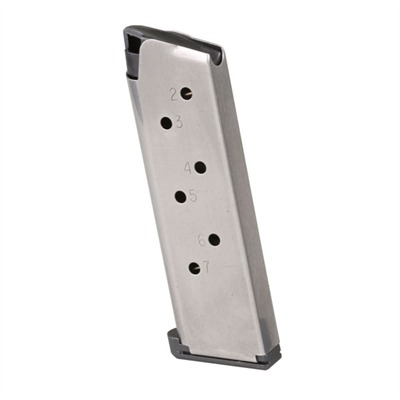 1911 Auto Stainless Steel Magazine - 7-Rd Officers Low Profile Mag