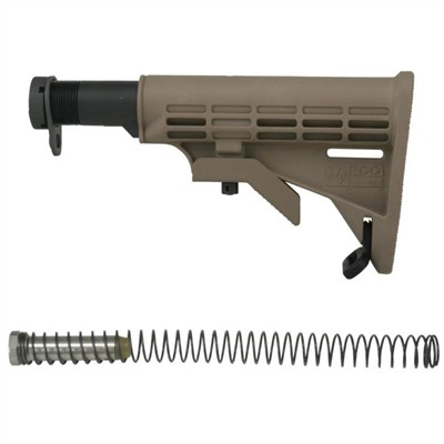 Ar-15 / m16 T6 Collapsible Stock Conversion Kit Ar15 T6 Collapsible Stock Dark Earth : Rifle Parts by Tapco Weapons Accessories for Gun & Rifle