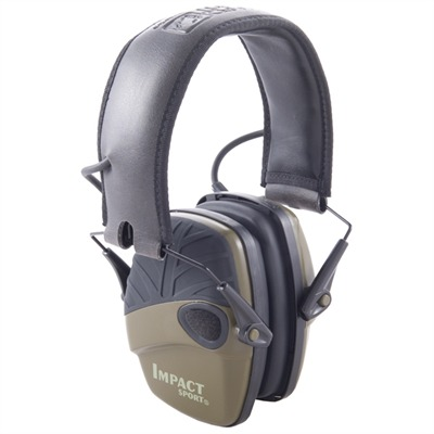 Howard Leight Impact Sport Electronic Earmuffs - Impact Sport Electronic Earmuffs O.D. Green