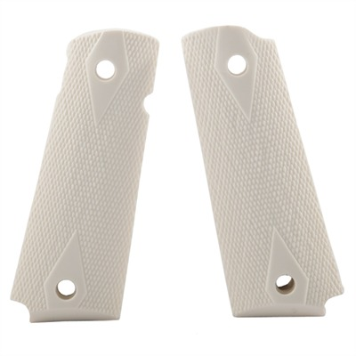 """N.C. Ordnance 1911 """"exotic"""" Grips Checkered Govt Model Grips Ivory/Ambidextrous Cut Online Discount"""