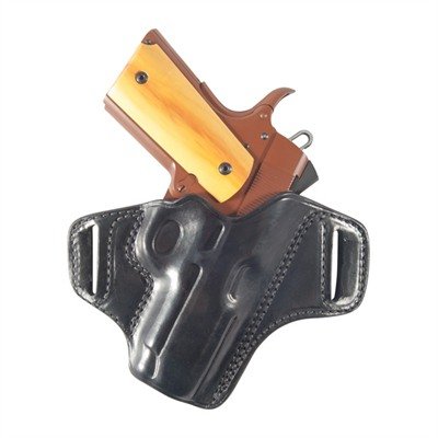 1911 Officers Model Belt Slide Holster - 1911 Officers Model Belt Slide Holster Rh, Black