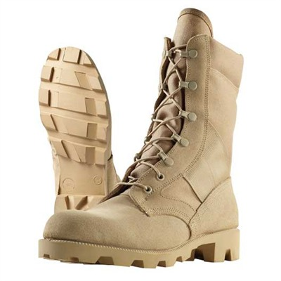 "8"" Imported Hot Weather Jungle Combat Boots Tan Size 9 1/2r Discount"