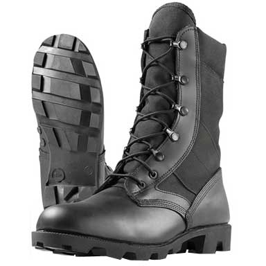 "8"" Imported Hot Weather Jungle Combat Boots Black Sze 9 1/2r Discount"