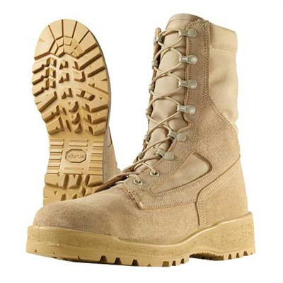 "8"" Hot Weather Steel Toe Combat Boots Tan Size 9 1/2r Discount"