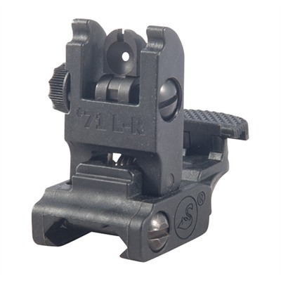 A.R.M.S.,Inc Ar-15  Low Profile Rear Sight - Ar-15  Flip-Up Adjustable Low Profile Rear Sight  Black