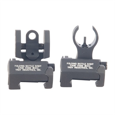 Troy Industries Fn Scar Micro Battlesights Set - Fn Scar Flip-Up Micro Battlesights Set Black