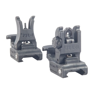 A.R.M.S.,Inc Ar-15 Polymer Sight Set - Ar-15  Flip-Up Polymer Sight Set Black