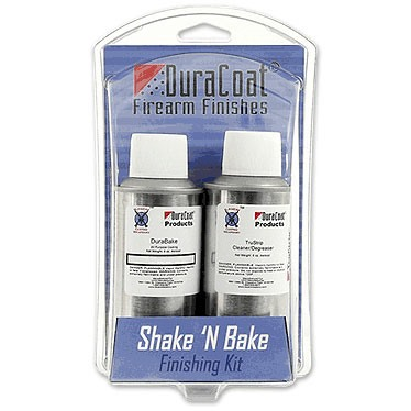 Lauer Custom Weaponry Shake 'N Bake Durabake Finishing Kit - Shake 'N Bake Kit, Woodland Brown