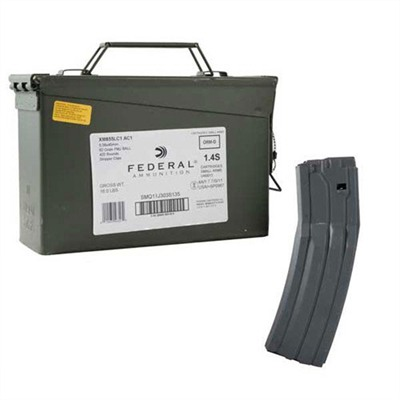 Lake City Ammo 5.56x45mm Nato 62gr Xm855 With Surefire 60 Mag - 5.56x45mm Nato 62gr Fmj 420 Ammo Can