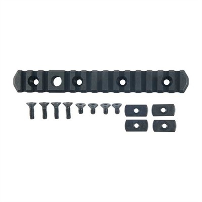 Mdt Chassis Accessory Rails - Direct Thread Rail Picatinny Aluminum Black 6.5""