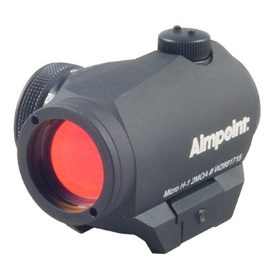 Micro H-1 Red Dot Sight W/ Weaver Style Mount - Micro H-1 2 Moa Red Dot & Weaver-Style Mount