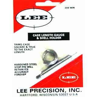 Lee Precision Case Length Gauges - Lee Length Gauge/ Shellholder, .308 Win