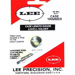 Lee Precision Case Length Gauges - Lee Length Gauge/ Shellholder, .38 Special
