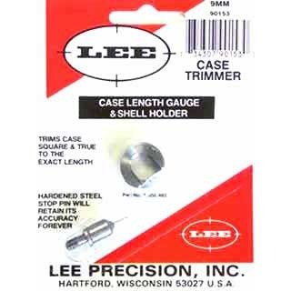 Lee Precision Case Length Gauges - Lee Length Gauge/ Shellholder, 9mm Luger
