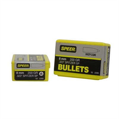Speer Hot Cor Rifle Bullets 8mm 200 Gr Spitzer 50/Box Discount