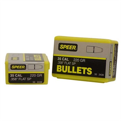 "Speer Hot-Cor Rifle Bullets - 35 Caliber (0.358"") 220gr Soft Point Flat Nose 50/Box"