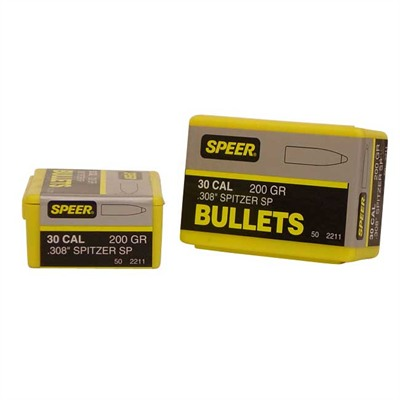 Speer Hot Cor Rifle Bullets 30 Cal 200 Gr Spitzer 50/Box U.S.A. & Canada