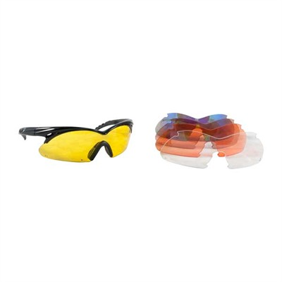 Radians Shift Interchangeable Lens Shooting Glasses - Multiple Lens Shift Interchangeable Lens Glasses Black
