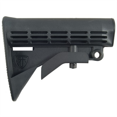 Ar-15/M16 Enhanced M4 Stock - Enhanced M4 Stock, Black