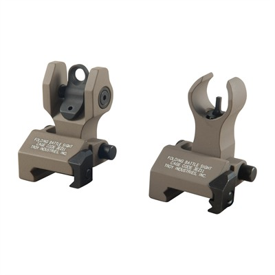 Troy Industries Ar-15  Hk-Style Front Sight Set - Ar-15  Flip-Up Hk-Style Front Sight Set Dark Earth