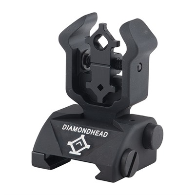 Ar-15  Diamond Rear Sight - Ar-15  Flip-Up Adjustable Diamond Rear Sight Black