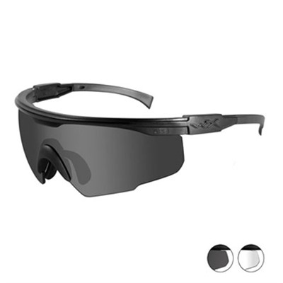 Wiley X Eyewear Xpt-2 Ballistic Shooting Glasses - Clear Smoke  Shooting Glasses Black