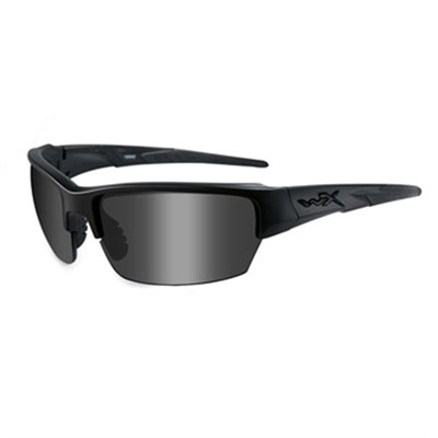 Wiley X Eyewear Saint Shooting Glasses - Smoke Gray Saint Shooting Glasses Black