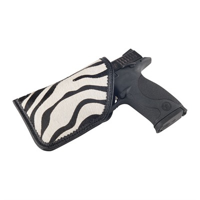 Moonstruck Leather Diva Sleeves B&w Zebra Diva Sleeve Holster, Large