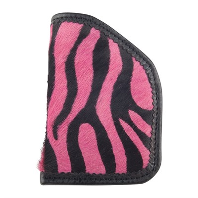 Moonstruck Leather Diva Sleeves - Hot Pink Zebra Diva Sleeve Holster, Revolver