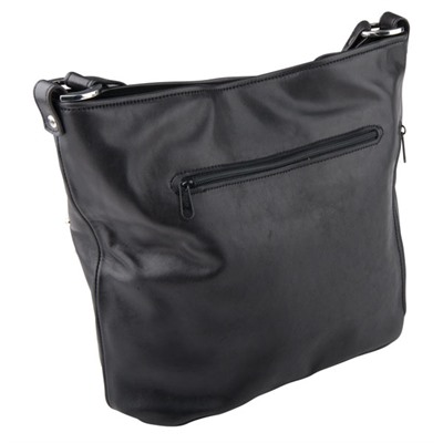 Conceal And Carry Purse - Leather Conceal & Carry Purse, Tote Style W/ Embellishment