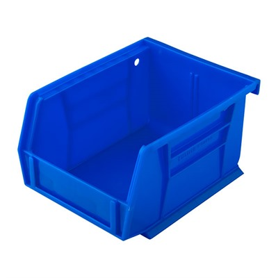 Sinclair International Uline Stackable Bullet Storage Bins - Stackable Bullet Bin, Small Blue