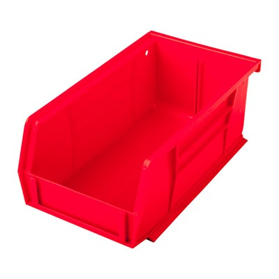 Sinclair International Uline Stackable Bullet Storage Bins - Stackable Bullet Bin, Large Red