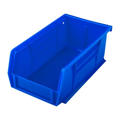 Uline Stackable Bullet Storage Bins - Stackable Bullet Bin, Large Blue