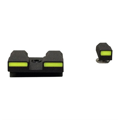 Sight Sets For Glock Green Front And Rear U.S.A. & Canada