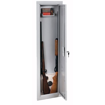 55-Inch In-Wall Steel Security Cabinet - Full Length In-Wall Cabinet