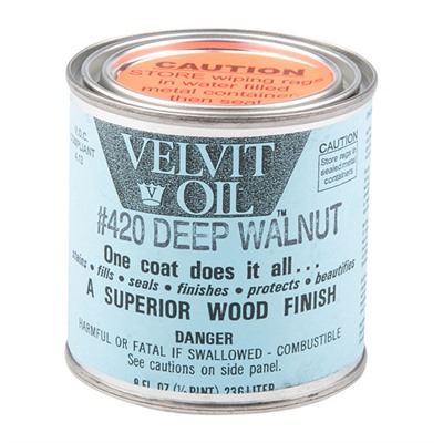 Velvit Oil - #420 Deep Walnut 1/2 Pint