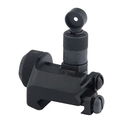 Ar-15  Tactical Rear Sight 600 Meter - Ar-15  Flip-Up Adj Tactical Rear Sight 600 Meter Black