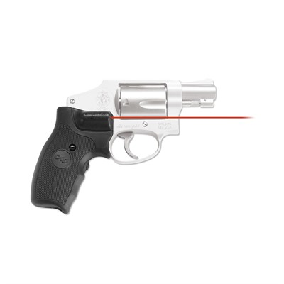 Crimson Trace Corporation S&W J-Frame Round Butt Front Activation Extended Lasergrips - S&W J-Frame Extended Grip Red Lasergrips