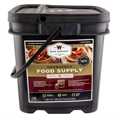 Image of Wise Foods 84 Serving Breakfast And Entree Grab And Go Food Kit